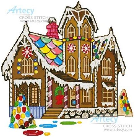 gingerbread house design patterns gingerbread house cross stitch pattern christmas