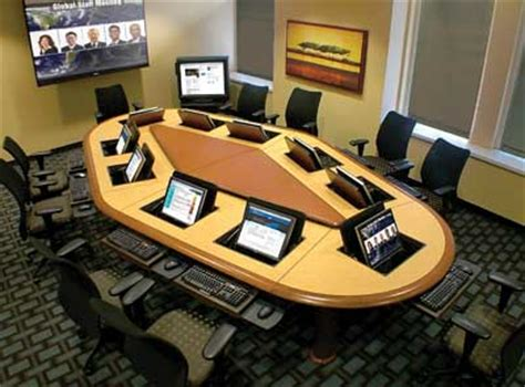 Meeting Room Design computer conference tables line of sight computer tables