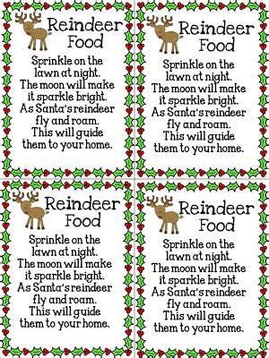 printable magic reindeer food labels free reindeer food poem printable new calendar template site