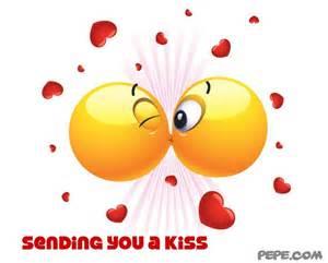 Sending you a kiss greeting card on pepe com