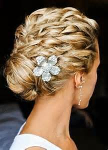 Prom hairstyles featuring headbands feathers bows and bobby pins