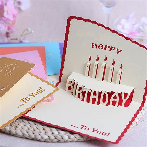 Handmade Greeting Card Business - the new stereoscopic 3d handmade cards diy staff birthday