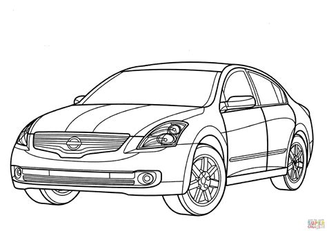 nissan cars coloring pages nissan coloring pages coloring nissan altima hybrid coloring page free printable