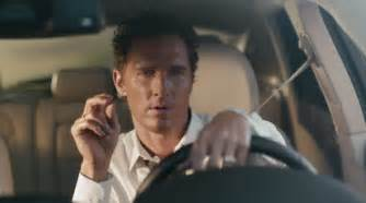 Lexus Commercial Actor Matthew Mcconaughey Lincoln Car Ad Directed By Nicolas