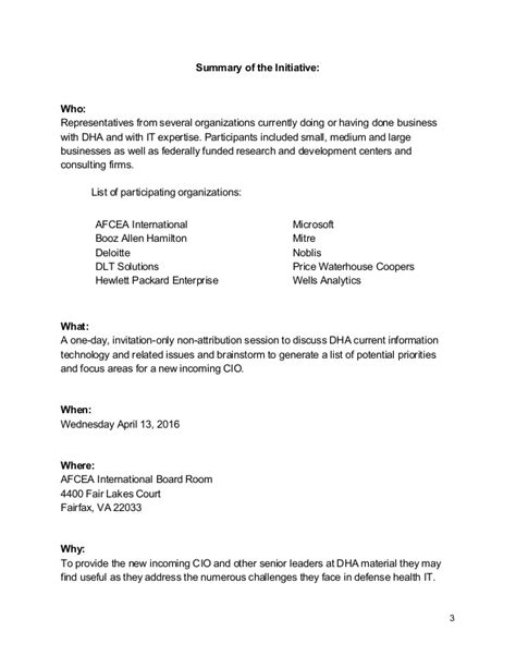 Invitation Letter For Brainstorming Meeting Afcea Defense Health Agency Dha Brainstorming Session Notes