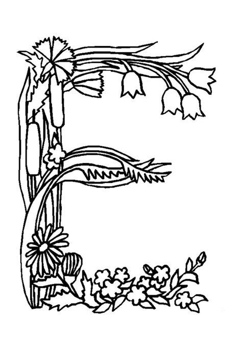 Lettre De Dérogation école Primaire Coloriage Alphabet Fleurs E Sur Hugolescargot Hugolescargot