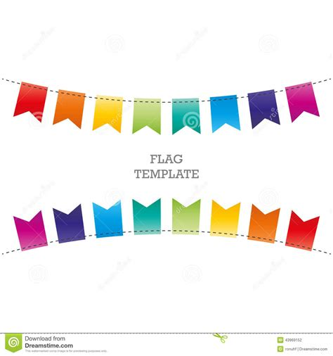 banner template ai flag geometric banner background bunting or swag template