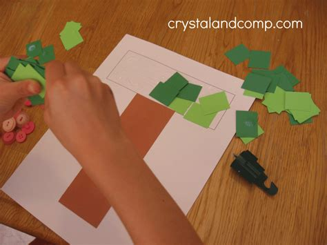 the craft project letter of the week preschool craft for t