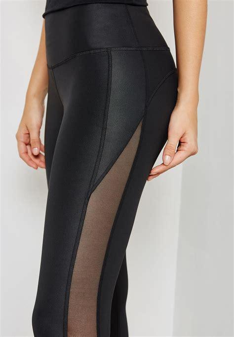shop adidas black climalite mesh leggings   women