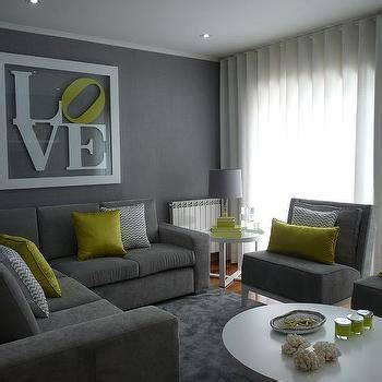living room with grey walls and green accessories home grey sofa design decor photos pictures ideas