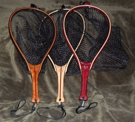 Handmade Fly Fishing Nets - set of 3 custom fly fishing nets by greg lumberjocks