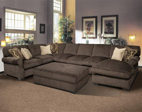 Big and comfy grand island large 7 seat sectional sofa with right side chaise by fairmont