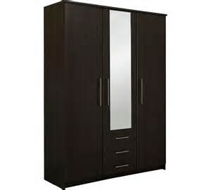 buy home normandy 3 dr 3 drw large mirror wardrobe wenge