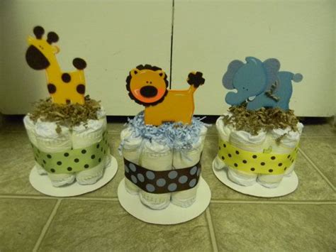cake for baby shower centerpiece jungle theme mini cake baby shower centerpiece decoration