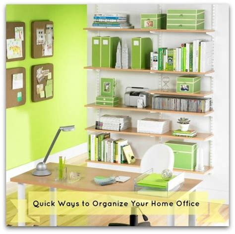 organizing your home office quick ways to organize your home office business pinterest