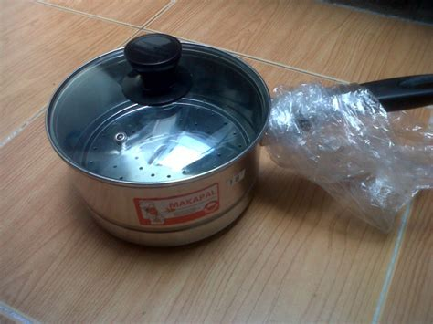 Panci Kukus Tutup Kaca jual panci kukus kecil 18cm milk pot with steamer set