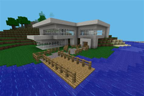 houses for minecraft pe 500 downloads 1500 views clearlylag s minecraft pe modern house mcpe maps