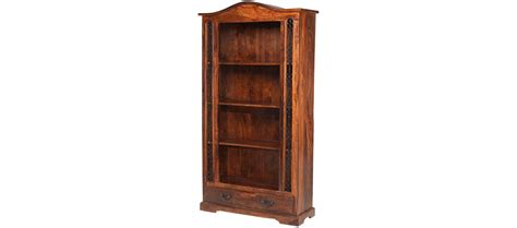 tall bookcase with drawers jali sheesham tall bookcase with drawer quercus living