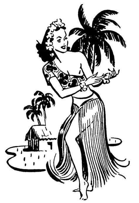 hula girl dancing at the beach coloring pages hula girl