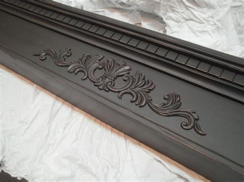 crafted slightly distressed fireplace mantel mantle