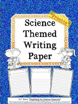 newspaper themed classroom science themed writing paper by magnifying the science