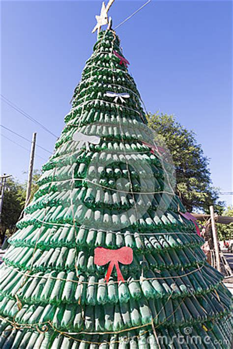 recycle christmas trees near me tree made of green plastic recycled bottles argentina stock photo image 61475123
