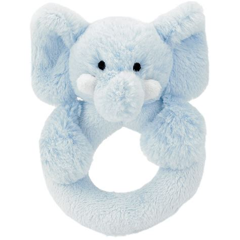 Jellycat Bashful Elly Soother Blue jellycat bashful blue elly ring rattle plushpaws