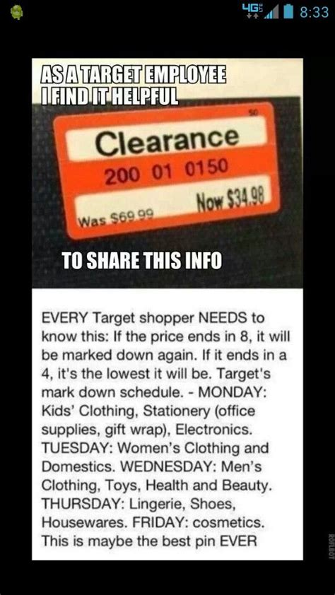 target hack target markdown life hacks shopping clothing shopping