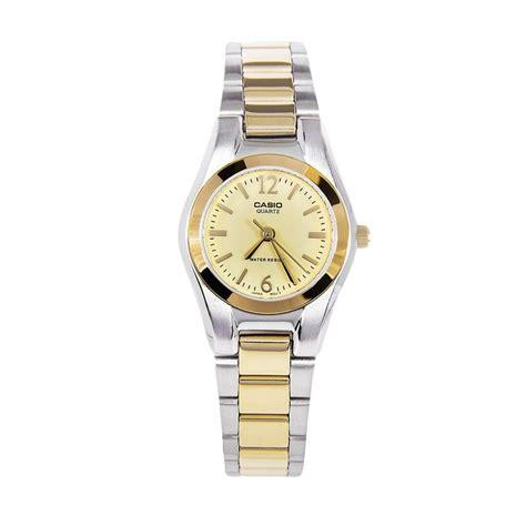 Casio Analog Jam Tangan Wanita Silver Stainles New jual casio duotone ltp 1253sg 9a silver gold jam tangan wanita harga kualitas