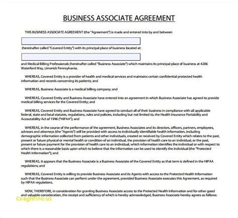 Business Associate Agreement Template 2018 Professional Template Business Associate Agreement Template 2018