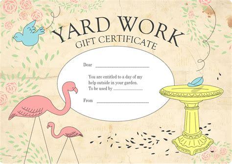Handmade Gift Certificates - gift certificates