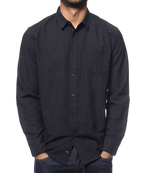 Kemeja Quiksilver Fresh Breather sleeve black button up shirt shirts rock