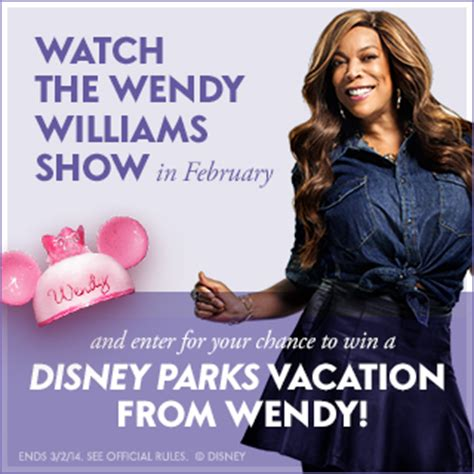 Wendy Williams Vacation Giveaway - win a trip to walt disney world for 4 from the wendy williams show