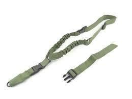 1 Point Bungee Rifle Gun Sling Green one point bungee rifle sling green