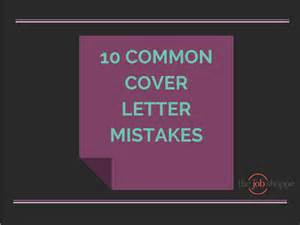 the job shoppe 10 common cover letter mistakes
