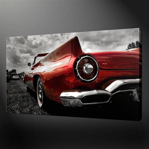 printable car wall art classic red car canvas print picture wall art
