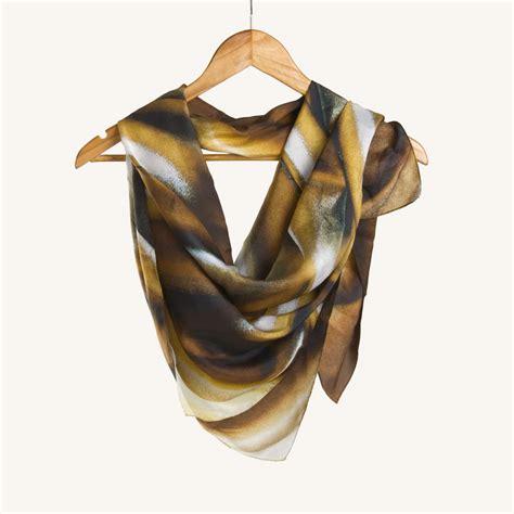 drape scarf drape texture print silk scarf maati