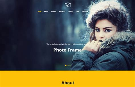 best photography website template free download