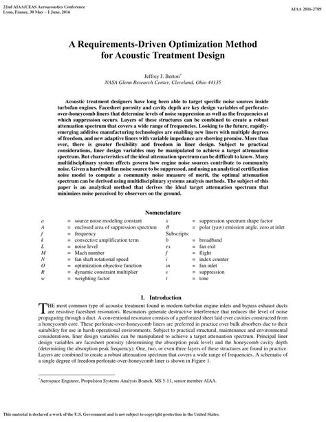 1 an empirical approach for optimization of acoustic a requirements driven optimization method for acoustic