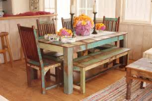 Eclectic Dining Room Tables by Indian Reclaimed Dining Room Set Eclectic Dining