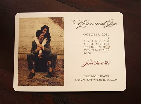 The Date Calendar Card For Bridesmaid Box Free Template by Rustic Save The Date Calendarphoto Wedding Card Vintage Save