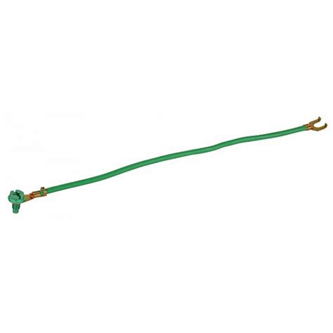 8 in green 14 stranded wire grounding pigtail with