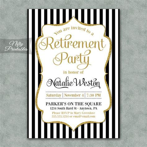 Retirement Party Invitation Template ? 36  Free PSD Format