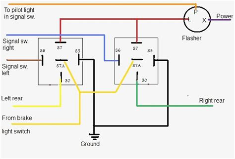 turn signal relay wiring diagram and hazards