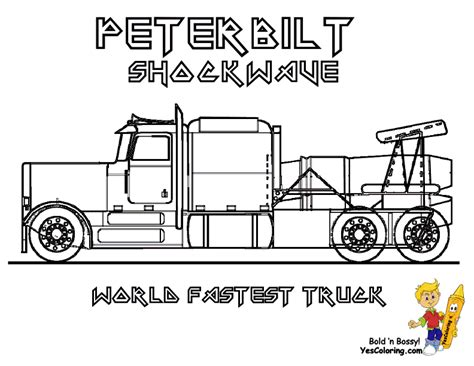 Jet Truck Coloring Page | stone cold coloring trucks trucks free 18 wheelers