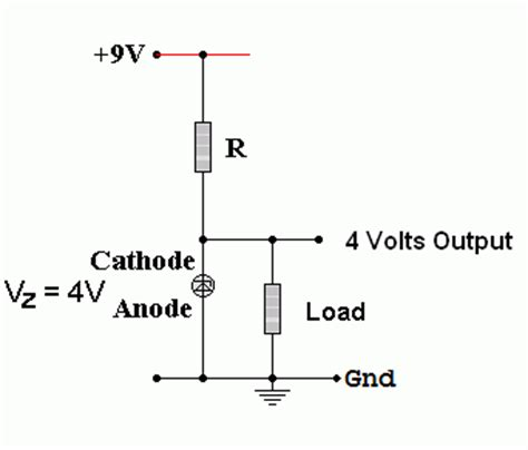 zener diode breakdown voltage equation zener diodes