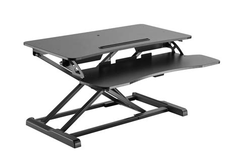 monoprice sit stand desk sit stand workstation desk converter 31in monoprice com