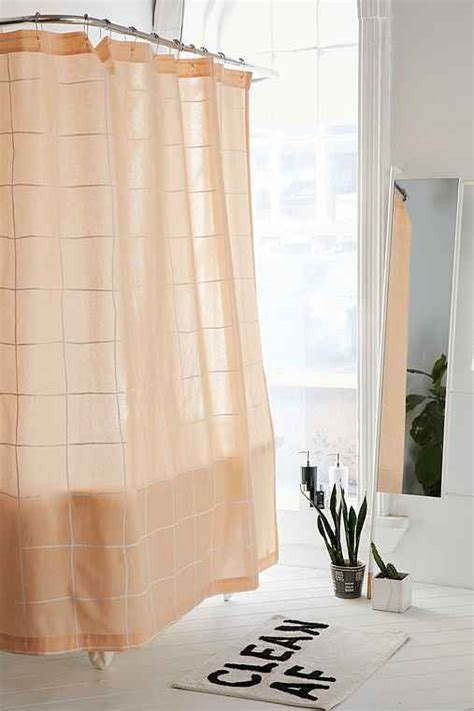 grid shower curtain wonky grid shower curtain urban outfitters