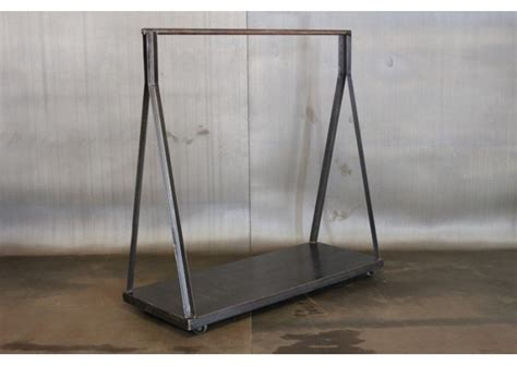 Metal Clothing Racks by Jason Wein Reclaimed Steel Clothing Rack