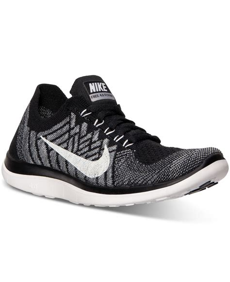 finish line shoes lyst nike s free flyknit 4 0 running sneakers from